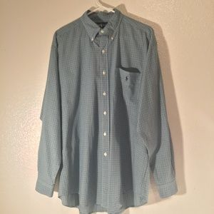 Ralph Lauren Blake mens long sleeve blue check